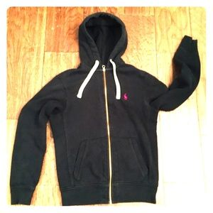 POLO BY RALPH LAUREN WOMENS SMALL BLACK HOODIE